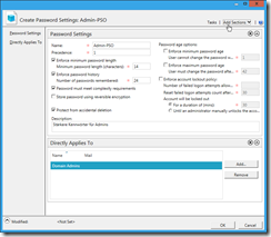 ADAC Create PSO Settings