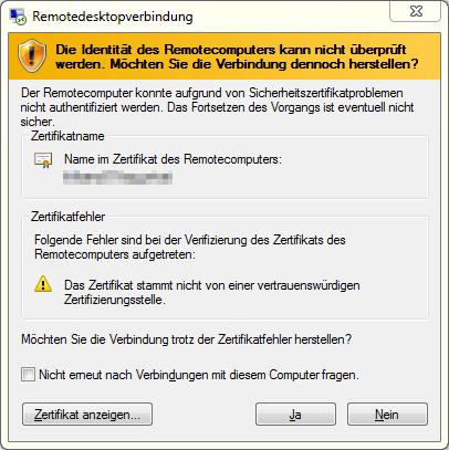 Das RDP-Zertifikat tauschen   faq-o-matic.net